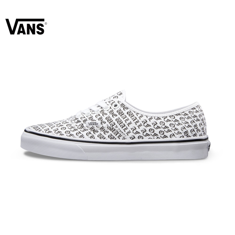 Original Vans Light Weight White Color Men's & Women's Unisex Classical Skateboarding Shoes Sports Shoes Canvas Shoes Sneakers