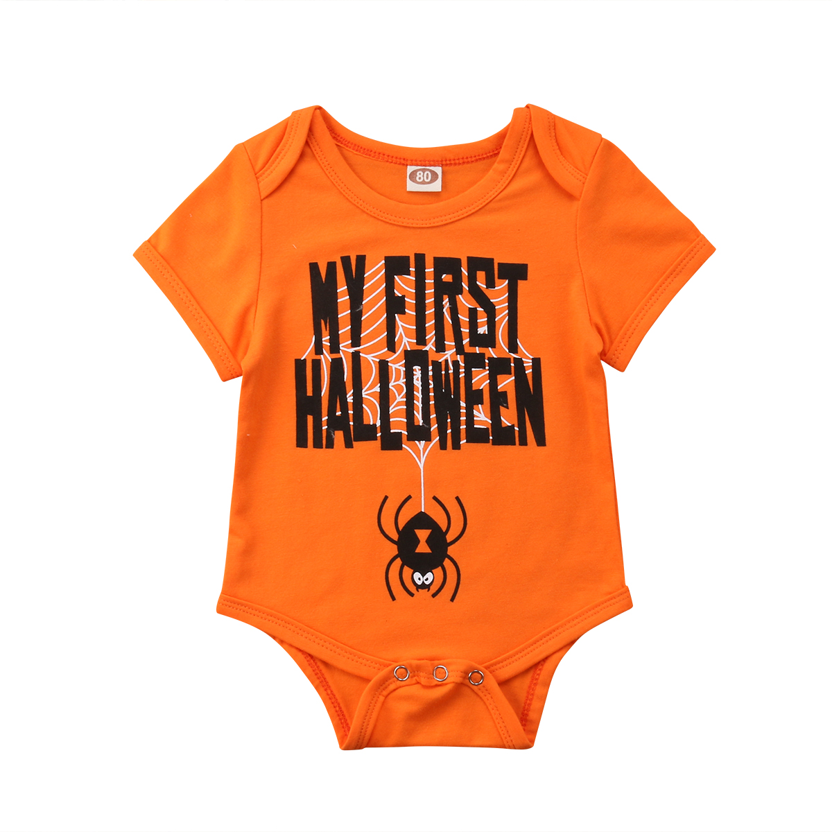 2018 Halloween Baby Boy Girl Clothing Short Sleeve Newborn Infant Baby   Rompers   Jumpsuit 0-18M