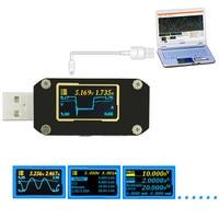 USB Tester PD3.0 QC4.0 Voltage Current Tester Digital Voltmeter Amperimetro Ripple Dual Type C Meter Power Bank Detector