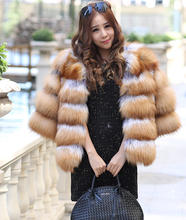 100% genuine red fox fur short coat for women, Fashion Trendy Real Fur  Women's winter jacket