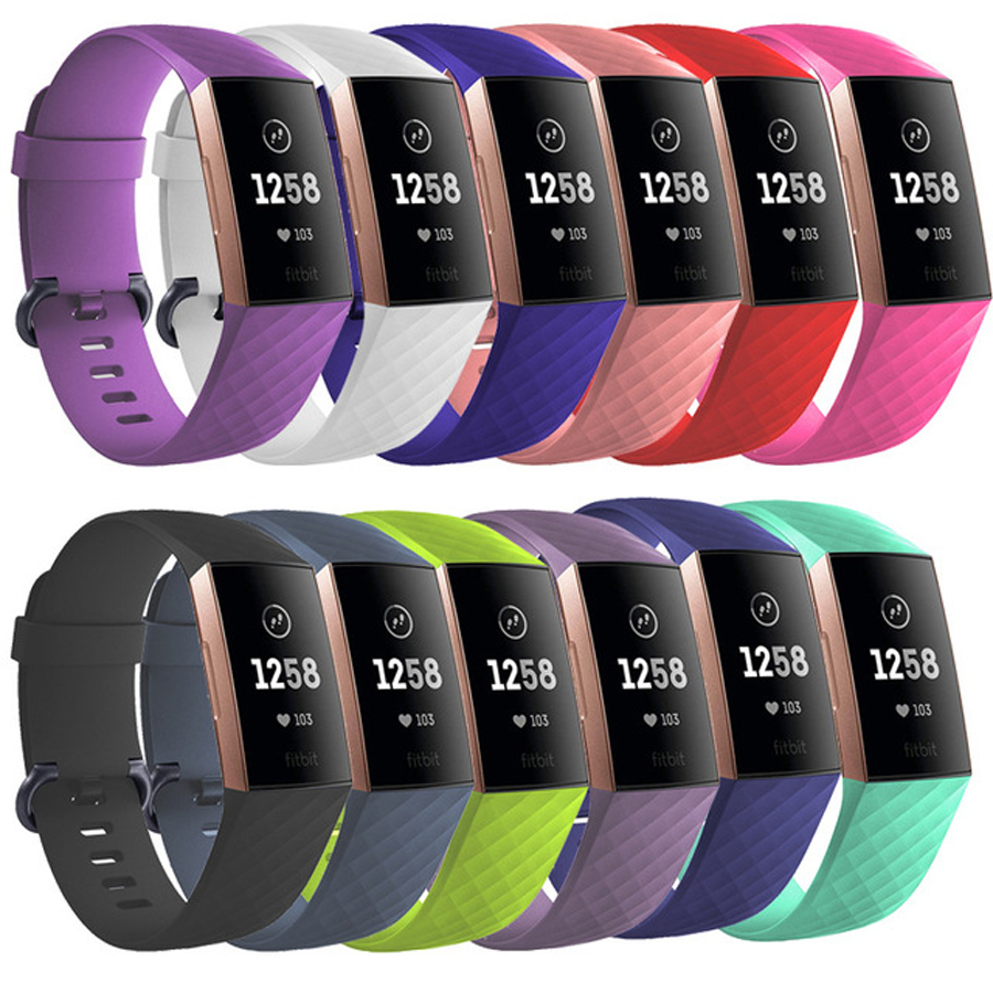 Wrist Strap for Fitbit Charge 3 Band Replacement Soft Silicone Wristband Belt Bracelet for Fitbit Charge 3 Watch Accessories fitbit watch