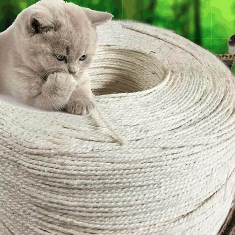 Natural Sisal Rope Twine DIY Cat Scratcher Accessories Diameter 4mm 5mm 6mm 8mm 10mm Twisted Rope