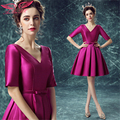 AnXin SH bride Cocktail Dresses in purple short Cocktail Dresses dinner princess Cocktail Dresses 0248 S