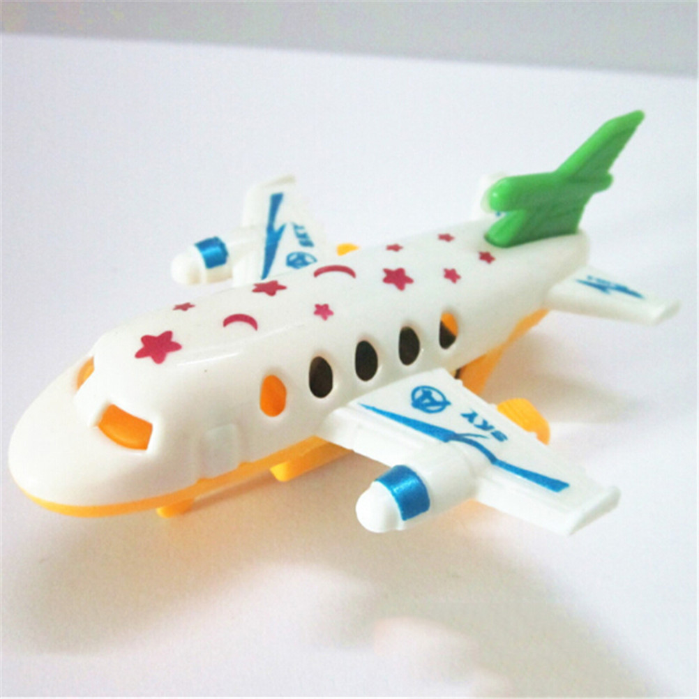 Kids Children Airplane Hand Launch Throwing Glider Aircraft Plane Model Outdoor Toy Pull Back Airliner Passenger Plane Toy Gifts image