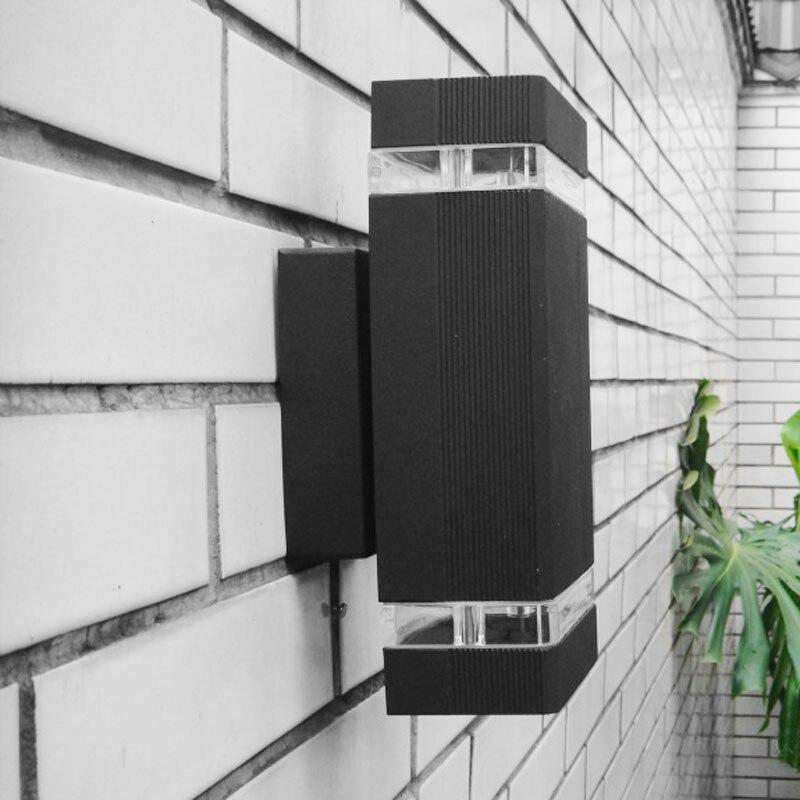 10pcs / lot Udendørs Havelamper Vandtæt IP65 8W Op og Ned Belysning Aluminium Væglampe Gratis fragt
