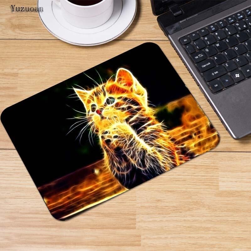 Yuzuoan Большие Акции милый кот изображение противоскользящие ноутбука PC Мыши Мат Мышь колодки для оптическая лазерная Мышь геймер Мышь pad