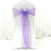 Organza Chair Sashes for Wedding/Party - Cover Sashes/Bows Sash/Ribbon/Tie Decor, Suit Banquet, Catering, Reception