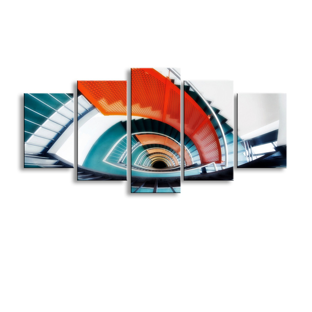 5 pieces high definition no frame print architecture