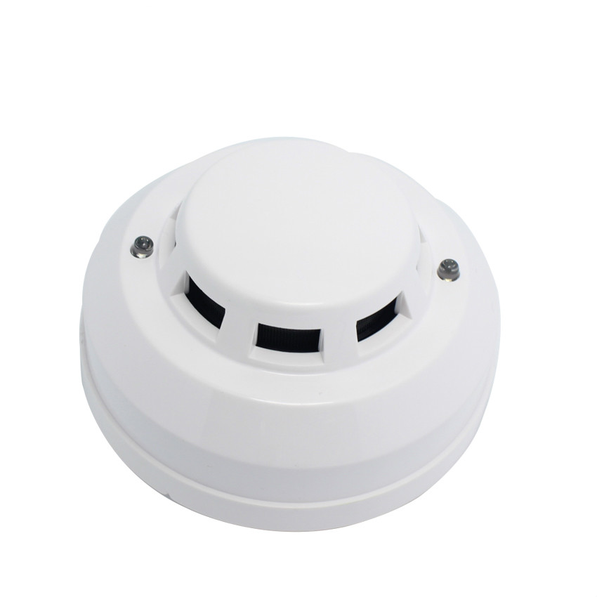 12V DC Wired Smoke Detector Optoelectirc Sensor Use To Check Fire Or Anti Something Burning Connect To Wired Zone