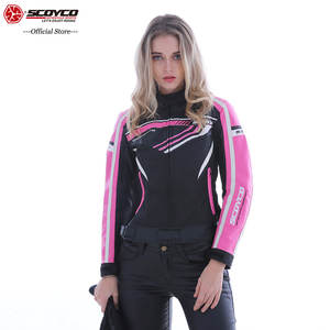 SCOYCO Fashion Women's Motorcycle Jacket Breathable Protective Shockproof MBX/MTB/ATV Motocross Clothes Riding Acessories JK37W