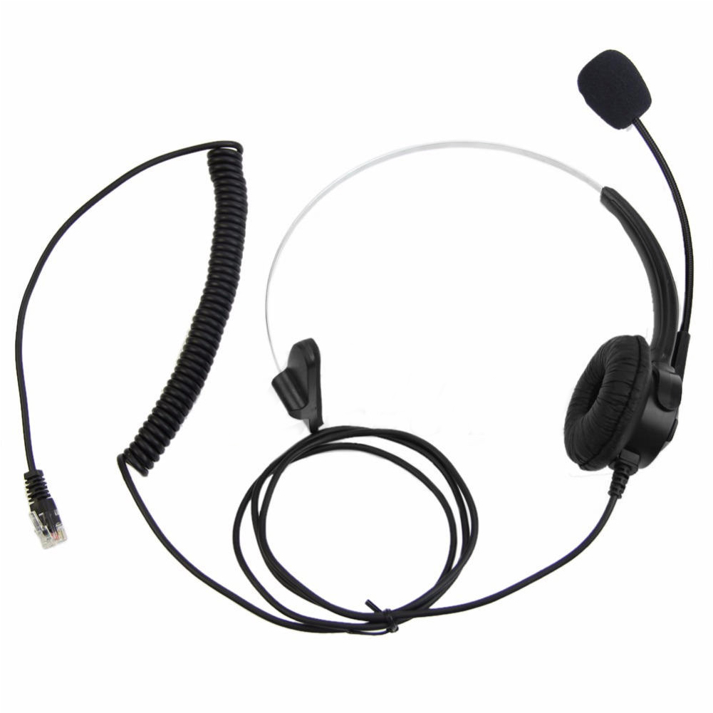 Telephone Headset Call Center Operator Monaural Headphone Customer Service Landline Voice Call Chat Headset Earphone hot~ image