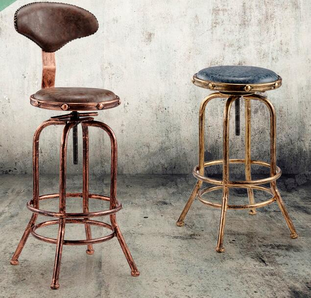 0010 Iron Bar Chair. High Stool. ..Vintage Hairdressing Stool..2212