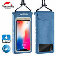 Naturehike Inventory clearance TPU Waterproof Phone Bag Lightweight Touch Screen Dry Bag Outdoor drifting phone bag 4-6 inch