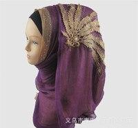 أزياء المرأة وشاح الحرير عالية الجودة الإندونيسية التركية مسلم الحجاب الزفاف للنساء اللؤلؤ غطاء الرأس الفتاة 10 الألوان