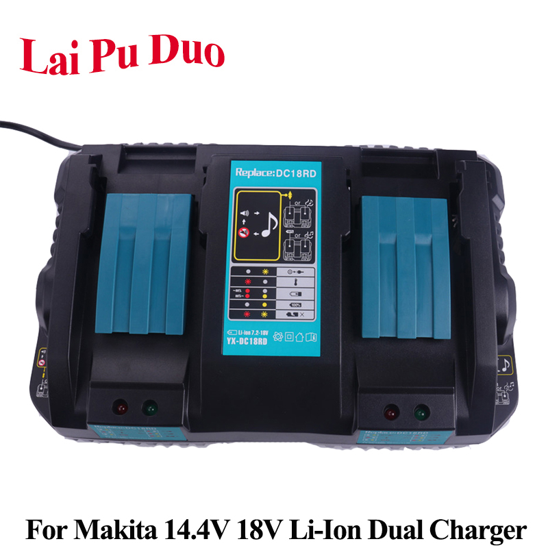For Makita Li Ion Replacement Power Tool Battery Dual Port Fast Optimized 4A Output Charger For