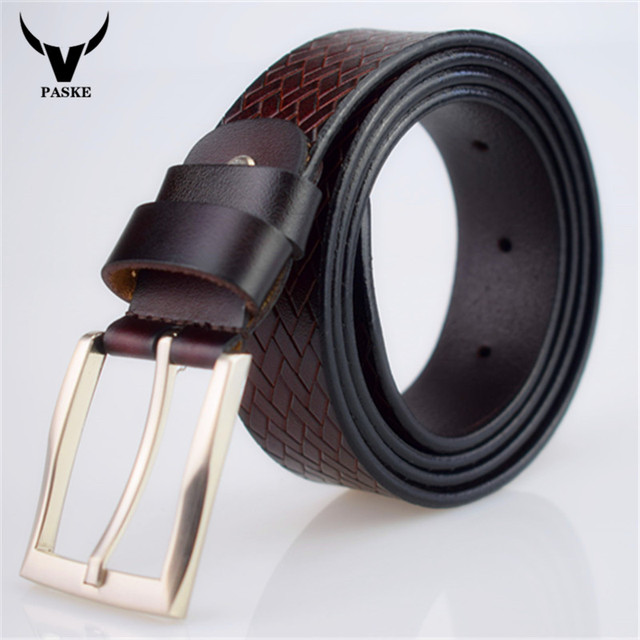 2017 Nueva caliente de cuero para hombre cinturón negro hebilla de los cinturones de diseñador de los hombres famosos de la correa de lujo masculina correa 130 cm ceinture homme