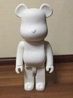 Лидер продаж 1000% bearbrick медведь @ кирпич 70 см DIY краски ПВХ фигурку белый цвет с Opp мешок