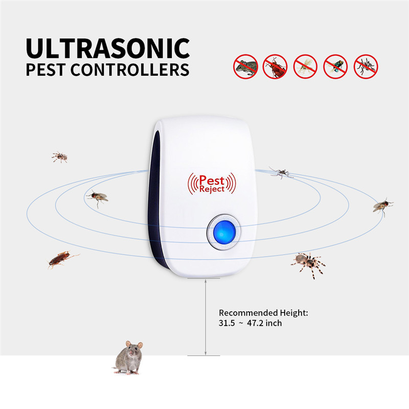 Pest Control Electronic Ultrasonic Anti Mosquito Insect Rodent Rat Mouse Repeller Mice Killer Non-Toxicity Tastelessness (2)