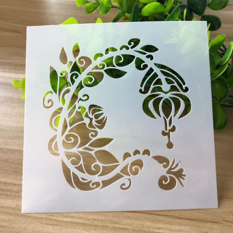 Home Collection Here Bullet Journal Openwork Pet Material Engraving Drawing Stencil Scrapbooking Album Decorative Embossing Template Child Drawing
