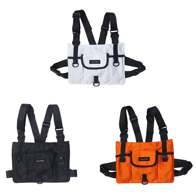 Men Waist Bag New Chest Bag Tactical Vest Bags Casual Function Chest Rig   Pack Streetwear For Male Kanye West 072001
