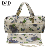 D&D 2pcs/Set Exquisite Knitting Needles Bag Knitting Tote Sewing Tools Storage Bag Fabric Crafts