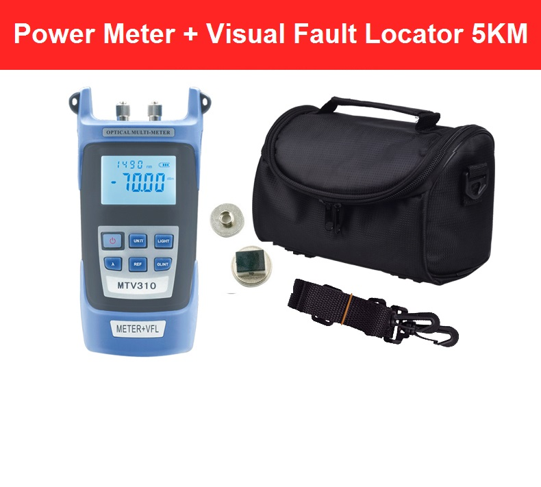 All-IN-ONE Fiber optical power meter -70 to +3dBm and 1mw 5km Fiber Optic Cable Tester Visual Fault Locator