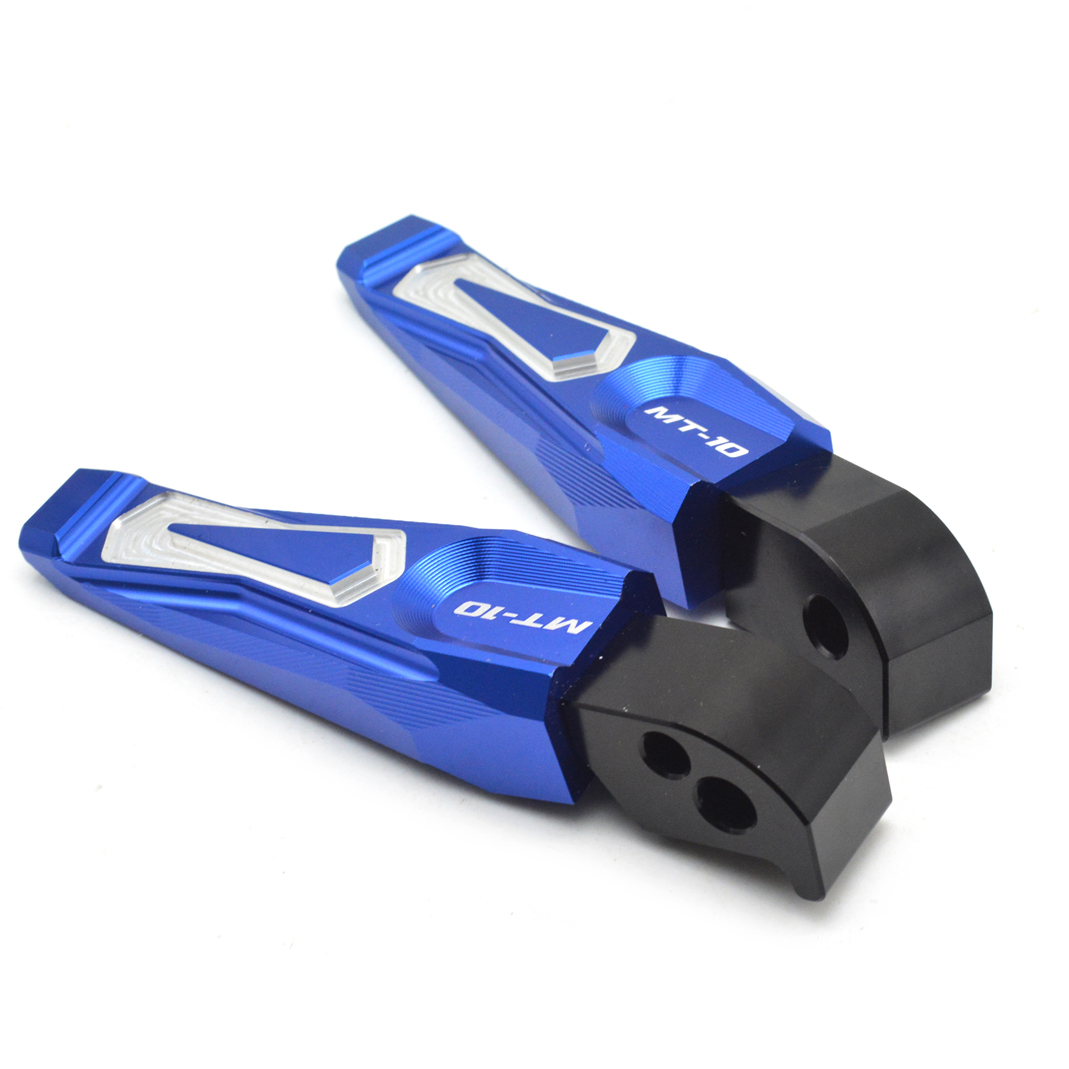 Cnc aluminum motorcycle rear passenger Foot Pegs pedals Footrestss For YAMAHA MT10 MT 10 MT 10 FZ10 FZ 10 FZ 10 in Foot Rests from Automobiles Motorcycles