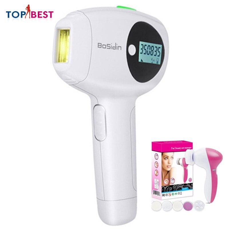 Depilador 100-240V femmes épilateur électrique glace COOL cheveux épilateur indolore Rechargeable mode soins de la peau avec brosse Mackup gratuite
