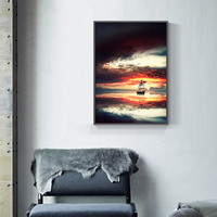 Induction lamp painting Poster Minimalist Art Painting Universe Wall Picture Long Banner Print Living Room Bedroom Decoration