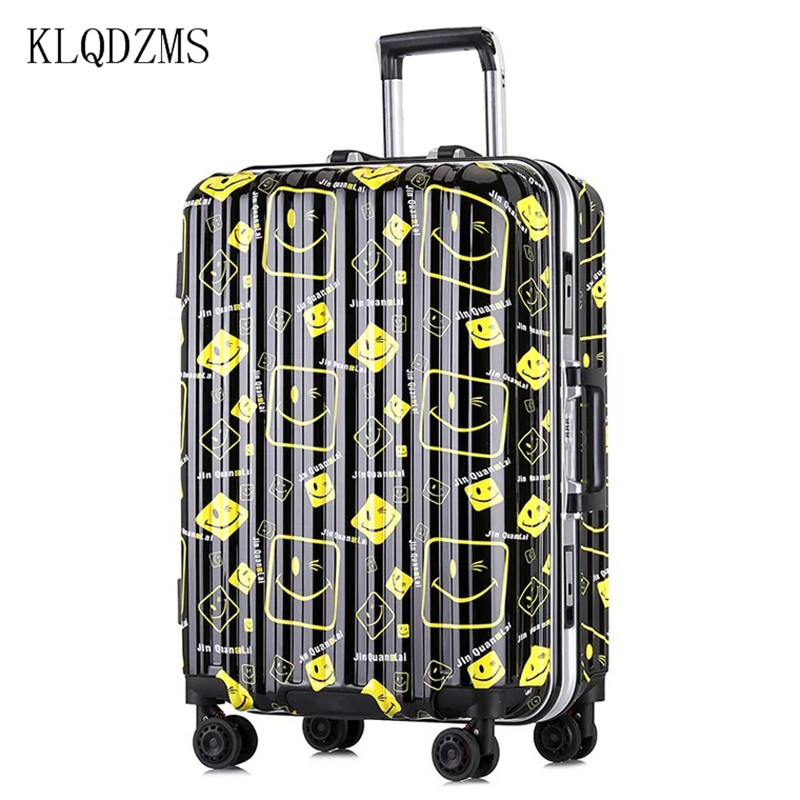 KLQDZMS 20/24inch Fashion Women Suitcases Wheel Trolley Rolling Luggage Spinner Travel Bag Carry on password Luggage