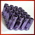 Extendido open end mofe racing logotipo original de 48mm de acero coche ruedas tuercas pernos p1.5 purple