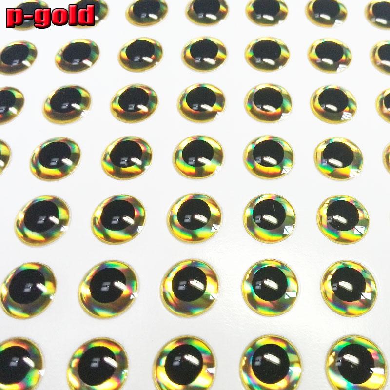 NOVO OURO 2019High-quality 3D isca de pesca olhos não-fácil de mover cola macio artificial peixe olhos 1000pcs. lot