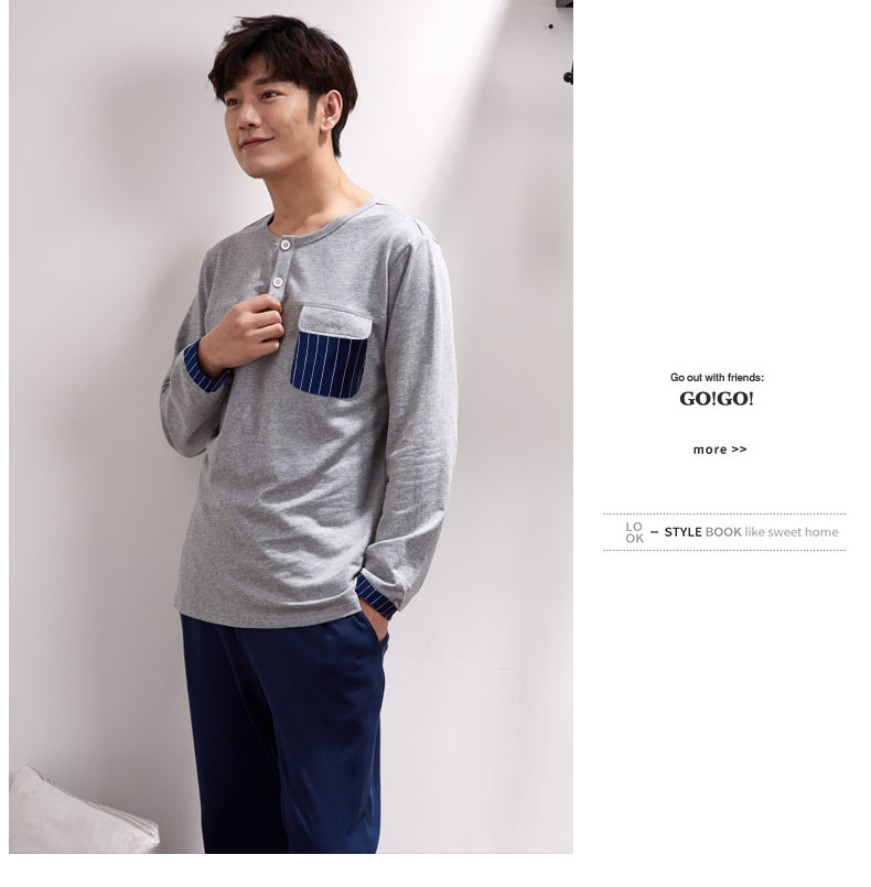 2019 Autumn 100% Cotton Men S Pyjamas Couple Pajamas Set Casual ... 102cdf5ad