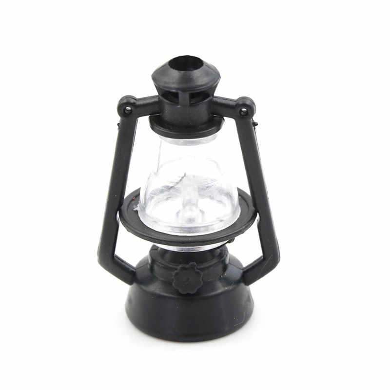1:12 Кукольный домик Винтаж Ретро черный керосин лампа мини мебель миниатюрный Rement играть дома игрушки для детей Детский подарок