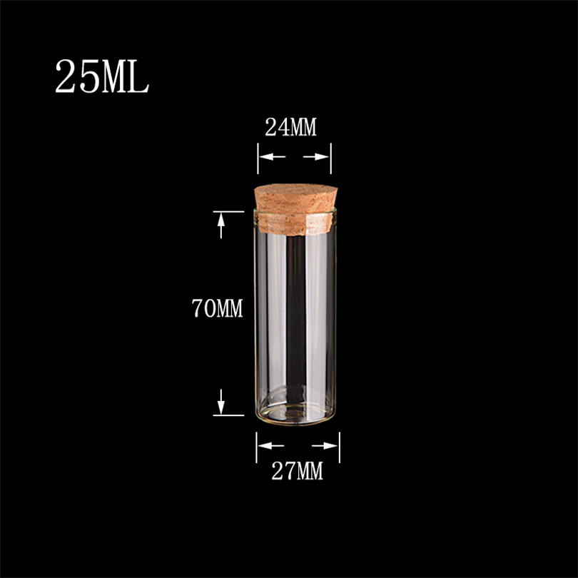 25ml Tiny Glass Bottle with Cork Transparent Clear Empty Spices Bottles Mini Jars Vials Jars Craft Wholesale1