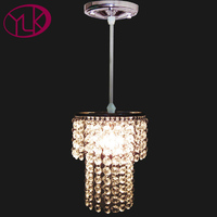 Free Shipping Modern Design Modern Crystal Shade Single Light Lustres E Pendentes Fixtures Lighting Dia14cm Crystal