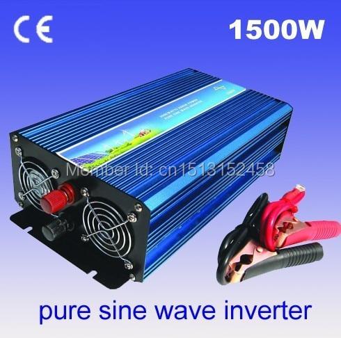 цена на free shipping 1500W pure sine wave power inverter off grid wind solar inverter 12VDC TO 220VAC