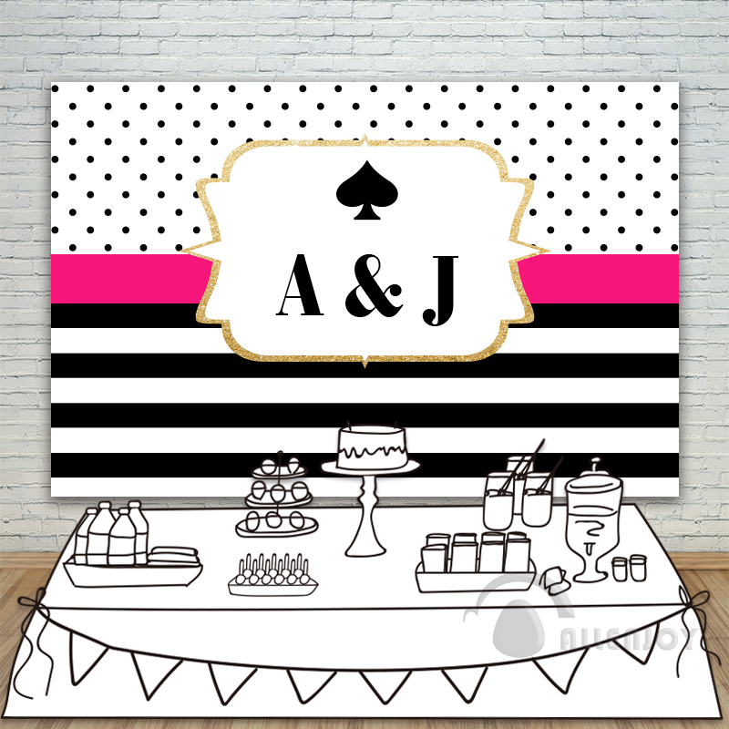 Couple Anniversary Invitation celebration Party backdrops Photography Background Black Circle Stripe Wall Allenjoy customize birthday backdrops baby shower eiffel tower background black and white stripe invitation celebration party allenjoy customize
