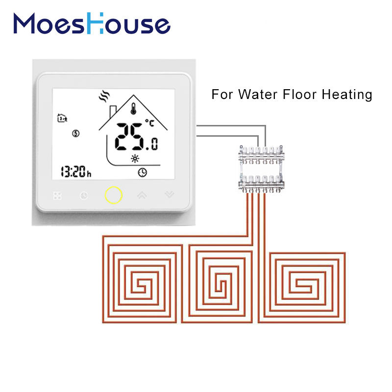 Thermostat Temperature Controller Water Warm Floor Underfloor Heating 3A Weekly Programmable