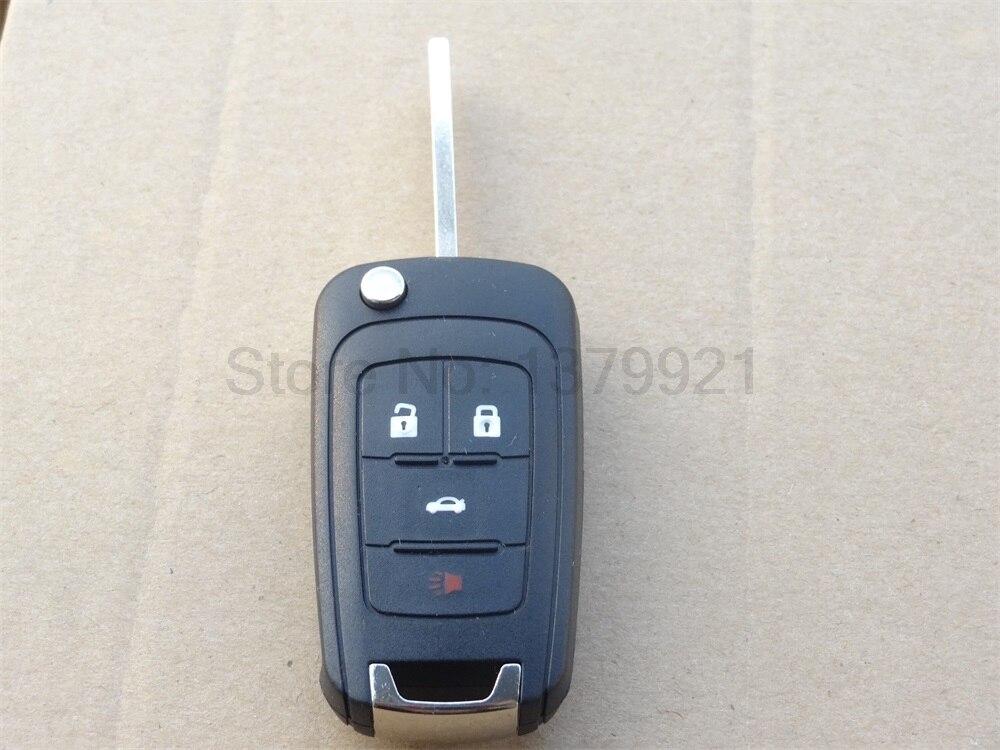 AUTEWODE Flip Remote Key Shell Case 4 Buttons for CHEVROLET Malibu Cruze Aveo Car Alarm Housing Keyless Entry Fob Cover
