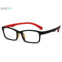 2019 New arrival TR90 Children Square Myopic Eyeglasses Frame Fashion Boys and Girls Opitcal Frames Plain Glasses