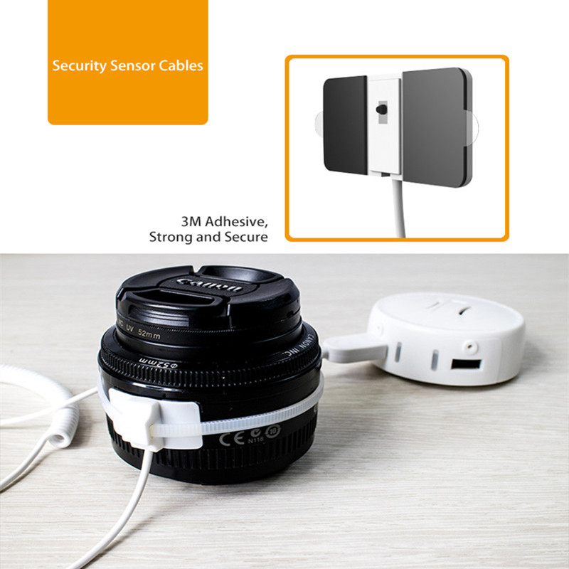 dac2d97fb3f7 8 port centralized remote control security solutions for camera Lens retail  alarms display pcs flexible sticker cable