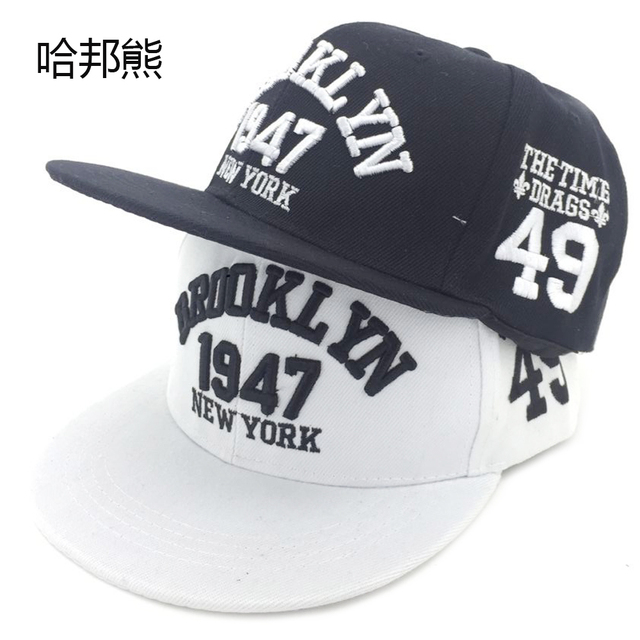HABANGXIONG Adult 1947 Brooklyn Style Baseball Cap Gorras Planas Snapback  Caps 100% Polyester Adjustable New 9d6a6800cfc