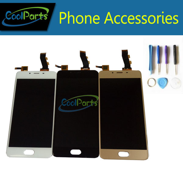 1PC/Lot High Quality 5.0 Inch For Meizu U10 LCD Display Screen+Touch Screen Digitizer With Tool Black White Gold Color