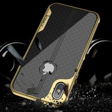 iPaky Original Brand Anti Knock Case For Apple iPhone X Luxury Plating PC Frame Soft Back Cover 10 Phone Cases