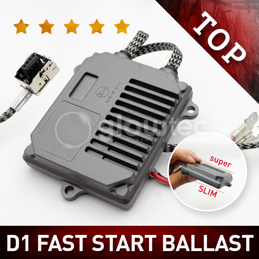 Free Shipping 12V High Quality D1 Canbus And Fast Start Ballast For D1C D1S D1R HID Light Bulbs 35W Xenon Ballast Glowtec