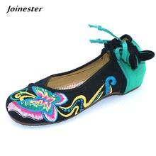 Туфли лодочки женские с круглым носком винтажные Мокасины цветочной