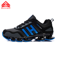 Men Running Sneakers Athletic Shoes Breathable Running Shoes Sport Shoes Men Non Slip Gym Leather Fitness