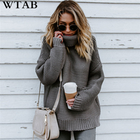 WYHHCJ Pullover Women's Jumper Turtleneck Sweater Female Jumper Women Warm Sweater thick Winter Cable Knitted Oversized Sweater