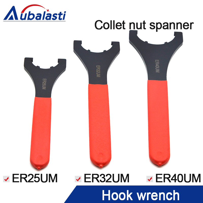 ER32UM hook wrench for ER32 ER25 ER40 collet nut spanner use for Collet Chuck Holder CNC Milling Tool Lathe Tools bt40 er32 100 er collet chuck holder er40 er32 100 chuck arbor for cnc machining center